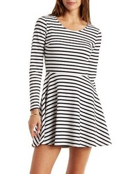 Charlotte Russe Striped Knit Skater Dress