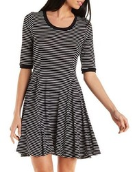 Charlotte Russe Striped Ringer Skater Dress