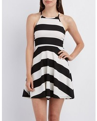 Charlotte Russe Striped Strappy Skater Dress