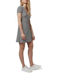 Topshop Stripe Wrap Skater Dress