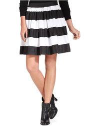 Tommy Hilfiger Pleated Striped Miniskirt