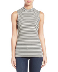Sleeveless mock neck top medium 572890
