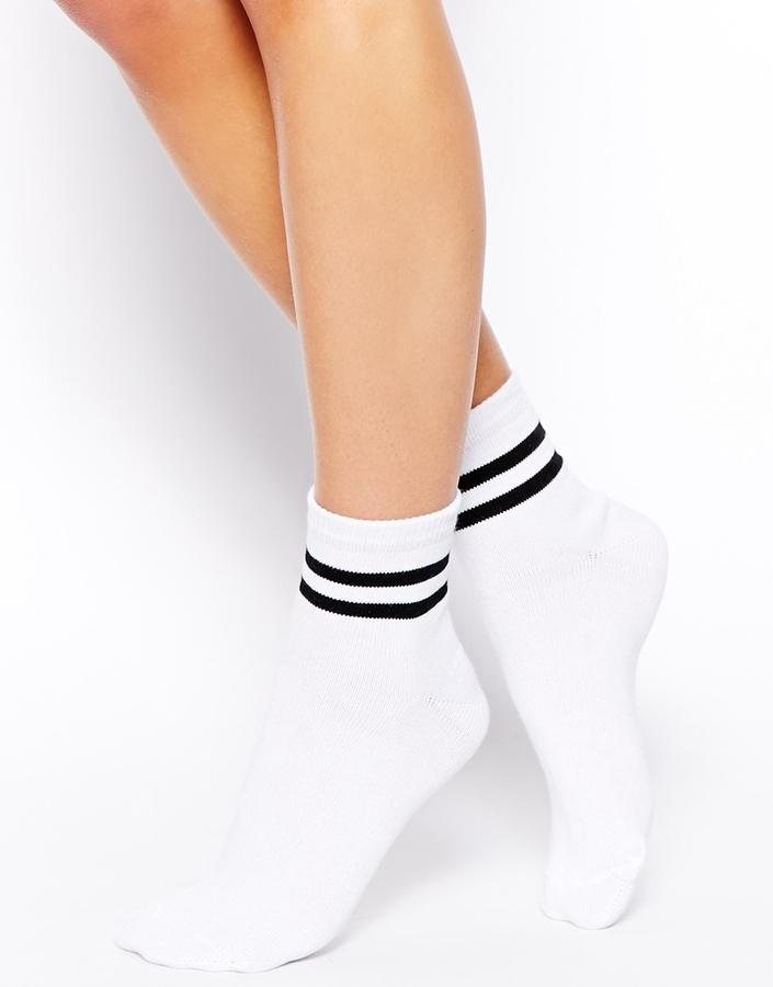 Asos Collection 2 Stripe Ankle Socks