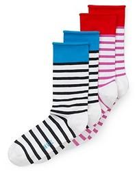 Hue Socks Striped Jean