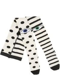 Polka Dots Stripes Cotton Tights