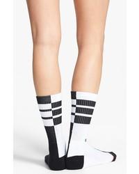 Stance Indecision Stripe Socks White One Size