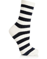 Sonia Rykiel Striped Knitted Cotton Socks