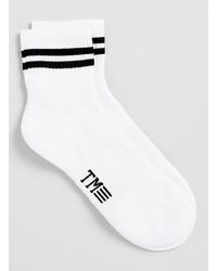 Topman White And Black Stripe Short Tube Socks