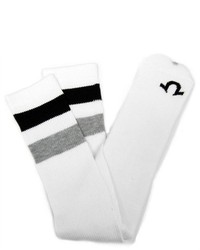 True Religion Athletic Blackgray Striped Tube Socks