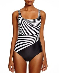Gottex Illusion Square Neck One Piece Swimsuit