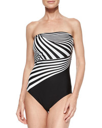 Gottex Illusion Stripe One Piece Swimsuit