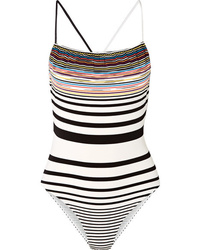 Missoni Mare Striped Crochet Knit Swimsuit