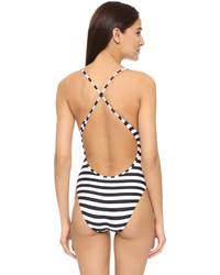 Proenza Schouler Strappy Stripe Maillot