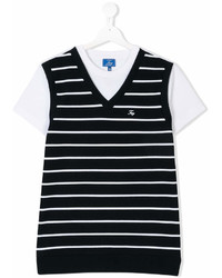 Fay Kids Teen Striped Vest T Shirt