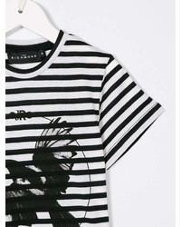 John Richmond Kids Striped Eagle Print T Shirt