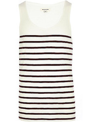River Island Dark Red Breton Stripe Tank