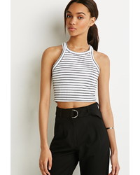Forever 21 Striped Waffle Knit Top