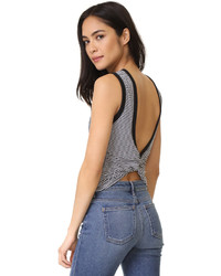 Alexander Wang T By Open Back Twist Tank Top