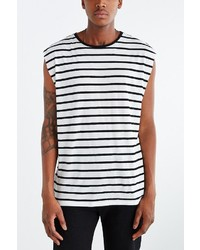 Urban Outfitters Feathers Stripe Muscle Tee