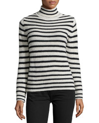 IRO Seely Striped Sweater Ecrublack