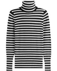 Striped knit pullover medium 843044
