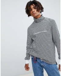 Billionaire Boys Club Striped Long Sleeve T Shirt In White