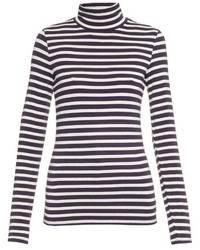Trademark Striped Roll Neck Long Sleeved Sweater