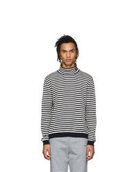 Moncler White And Black Maglia Turtleneck