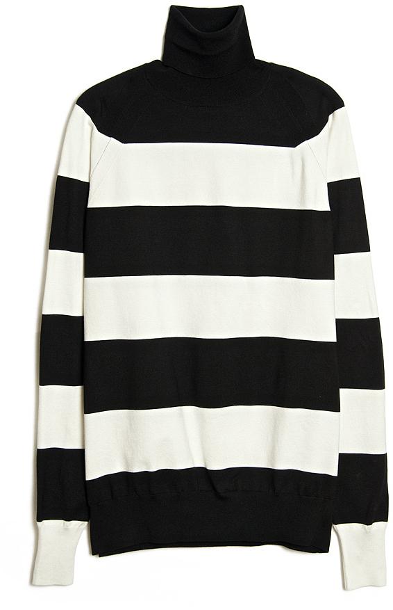 Stella McCartney Wide Stripe Turtleneck Sweater | Where to buy ...