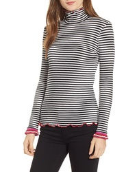 Splendid X Margherita Dolce Vita Stripe Turtleneck Shirt