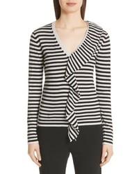 Max Mara Dingo Stripe Silk Cashmere Sweater