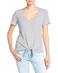 Stripe knot front tee medium 6747914