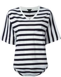 Striped v neck t shirt medium 283868