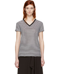 T by black and white v neck t shirt medium 1291429