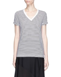 Alexander Wang T By Stripe V Neck T Shirt