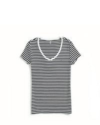 Tommy hilfiger horizontal stripe v neck tee medium 80006