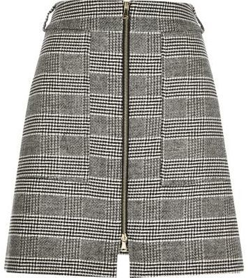 3e9c161949 River Island Black Houndstooth Check A Line Skirt, $70 | River ...