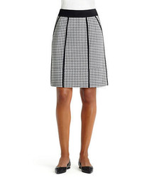 Lafayette 148 New York Houndstooth A Line Skirt
