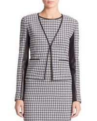 St. John Houndstooth Knit Jacket