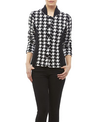 Houndstooth knit jacket medium 426466