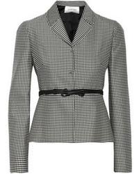 Valentino Houndstooth Print Wool And Silk Blend Blazer