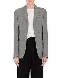 Houndstooth stretch wool jacket medium 6834169
