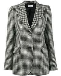 Isaacs houndstooth wool blend blazer medium 6834167