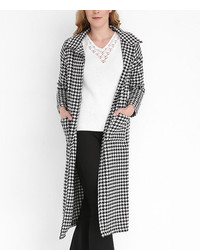 Black White Houndstooth Coat
