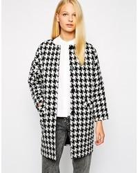 Helene Berman Button Front Collarless Coat