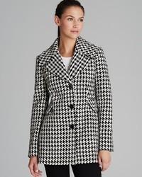 Calvin Klein Coat Houndstooth Basketweave
