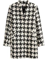 H&M Houndstooth Coat Blackwhite Ladies