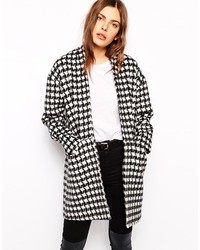 Just Female Houndstooth Coat
