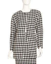 Laundry by Shelli Segal Houndstooth Tipper Coat Blackwhite