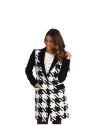 L.A.M.B. Houndstooth Long Jacket Coat